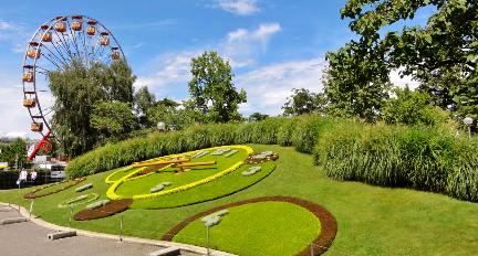 une vue du jardin anglais à geneve